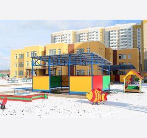 Александр Усс и Сергей Ерёмин высоко оценили качество нового детского сада в микрорайоне Нанжуль-Солнечный